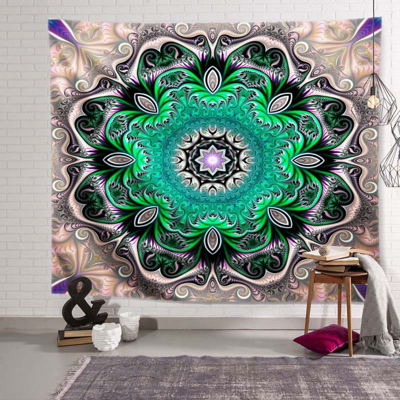 Artistic Flower Tapestry for Event Decoration