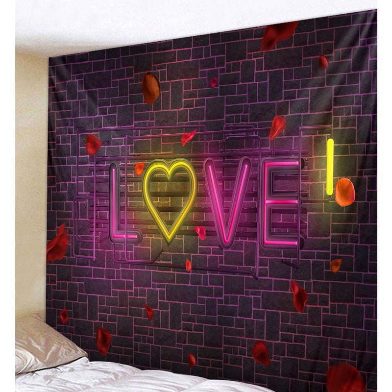 Romantic Themed Tapestry for Couples Bedroom