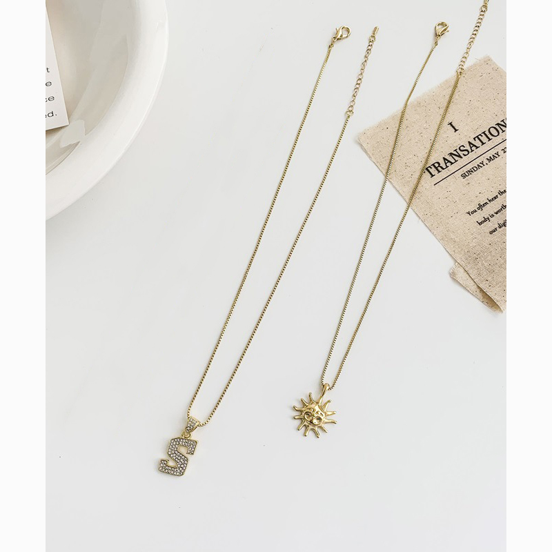 Golden Sun Markings Charm Necklaces for Enchanting Outfits
