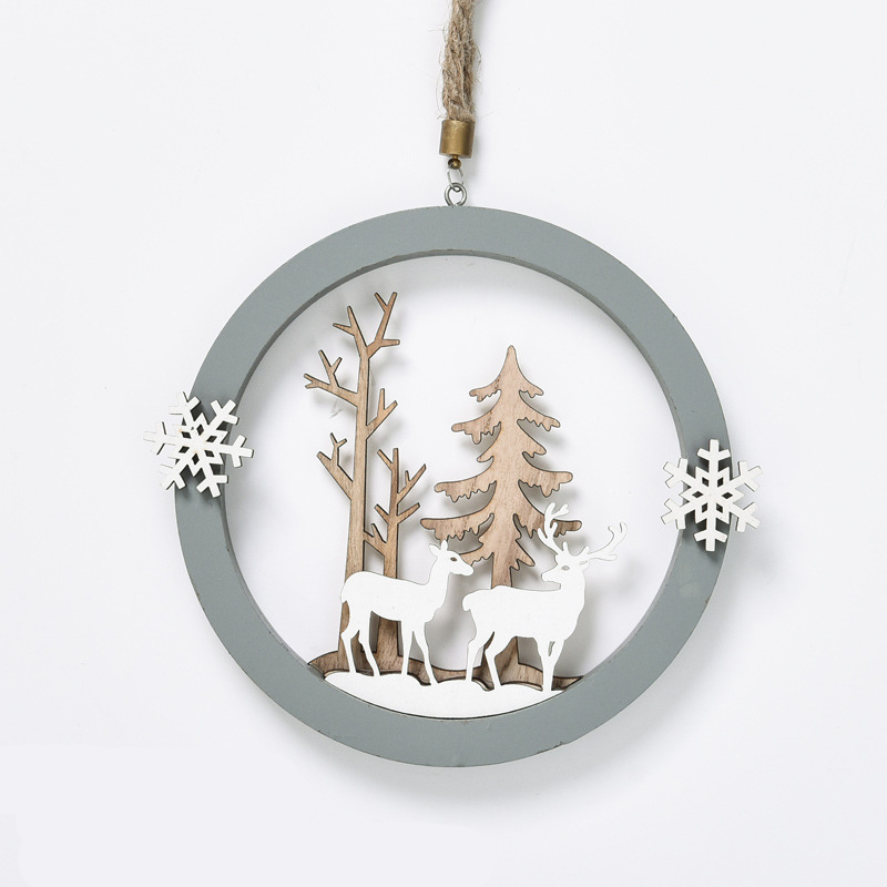 Snowy Alps Reindeer Christmas Ornament for Decorating Your Tree
