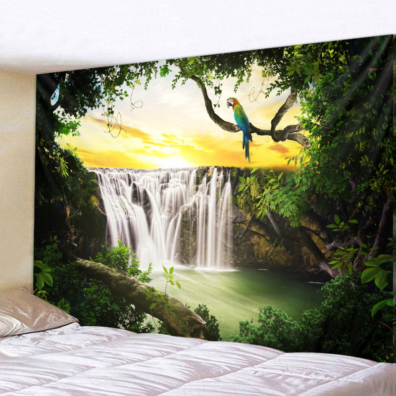 Adorable Nature Tapestry for Refreshing Bedroom Vibe