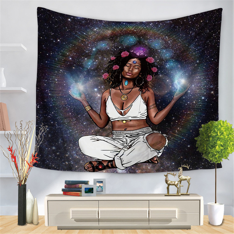 Beautiful and Expressive Woman Art Tapestry for Living Room