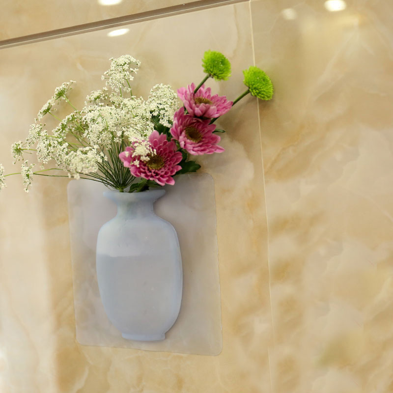 Adhesive Silicone Vase for Dried Flowers