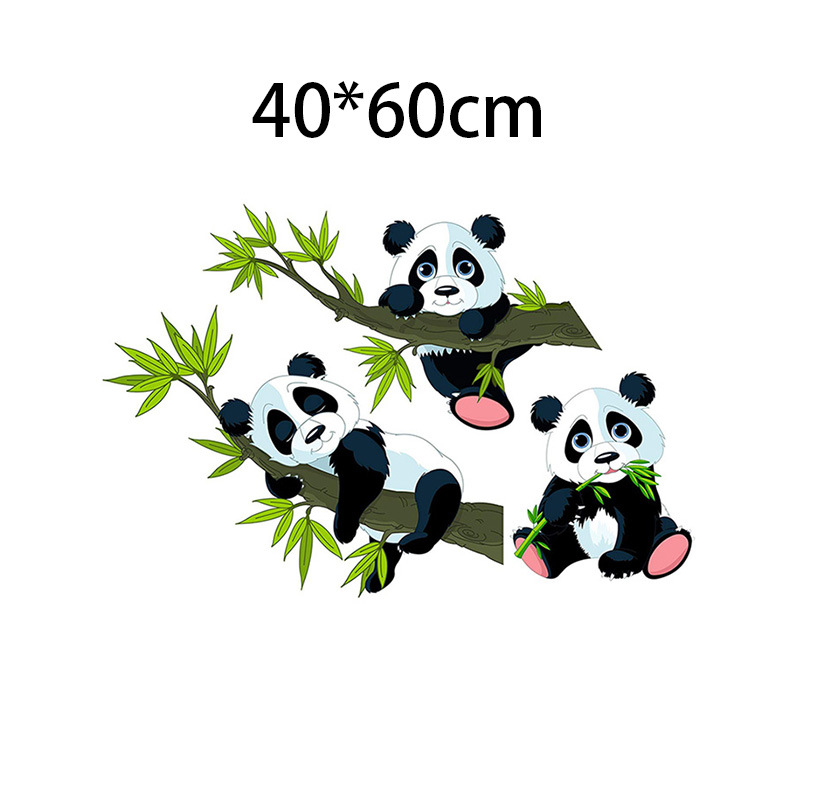 Adorable Baby Panda on a Bamboo Wall Sticker for Nursery Room