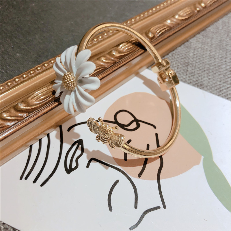 Bee and Blooms Open Bangle