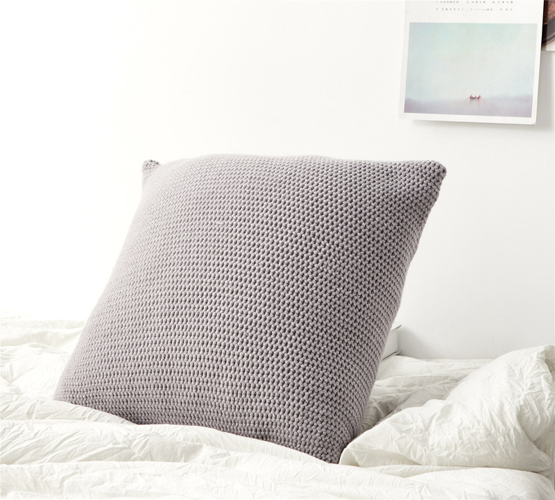 Knitted Plush Linen Cushion Cover for Living Room