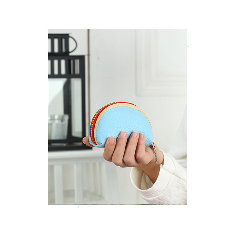 Vibrant Zippered Synthetic Coin Purse for Quick Store Runs