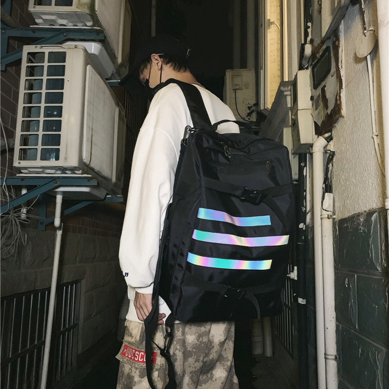 Roomy Backpack with Glow in the Dark Design for Student