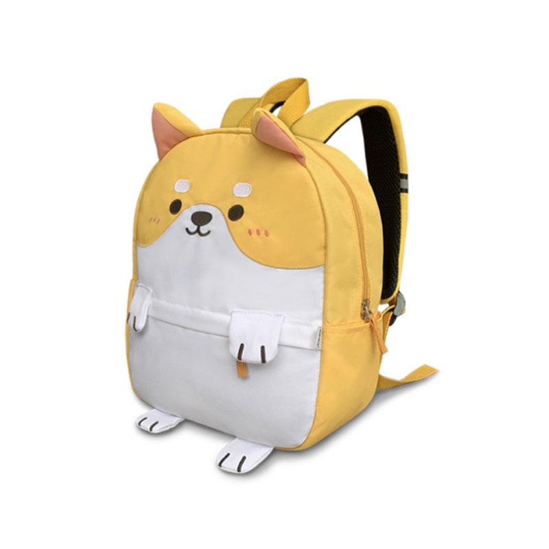 Adorable Siberian Husky Cloth Backpack with 3D Ears and Legs for Dog Lovers