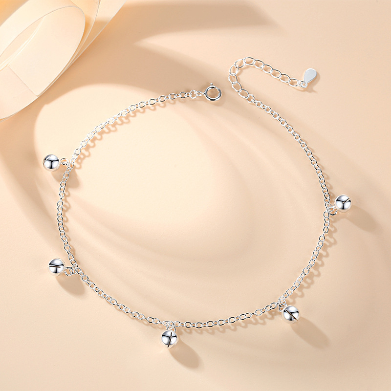 Simplistic Bell Station Anklet for Cropped Jeans