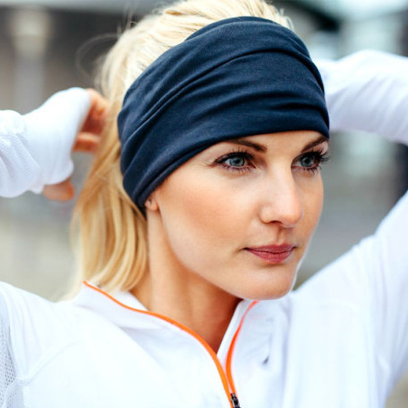 Hair Friendly Wide-Brimmed Hair Turban for Yoga Session