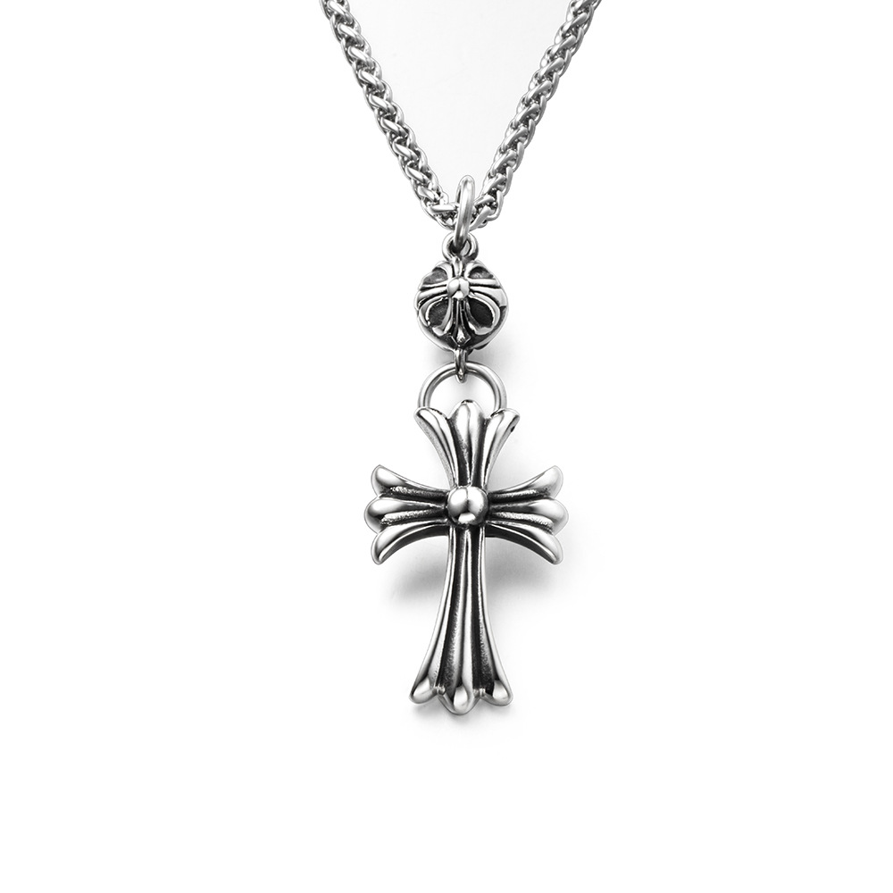 Stylish Medieval Cross Necklace for Men and Women
