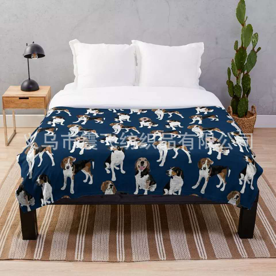 Adorable Dog-Patterned Blanket for Gifts to Dog Lovers