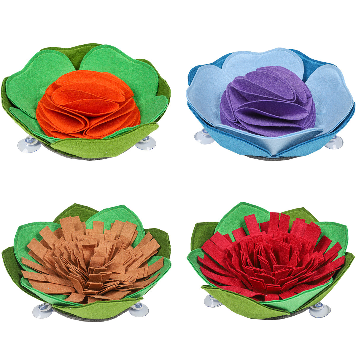 Challenging But Cute Felt Cloth Pet Bowl for Dry Treats and Encouraging Weight Loss