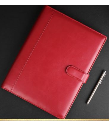 Classy Faux Leather Binder for Business and Office Meetings