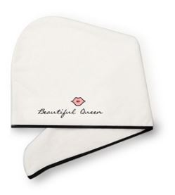 Absorbent Sweet Quote-Embroidered Hair Towel for Useful Gifts to Girls