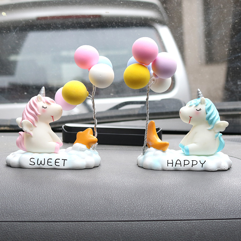 Charming Unicorn and Balloons Car Display for Decorating Your Cars