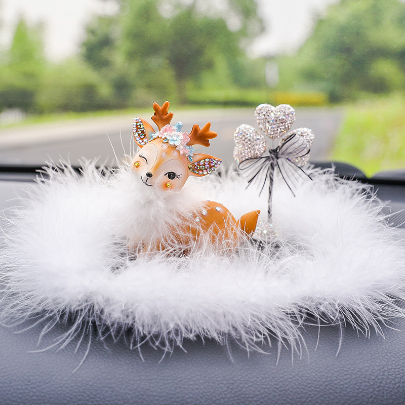 Cute Small Deer Figure for Car Decoration