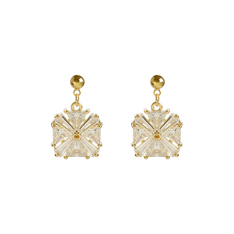 Exquisite Faux Gem Detailed Earrings for Sophisticated Chic Looks