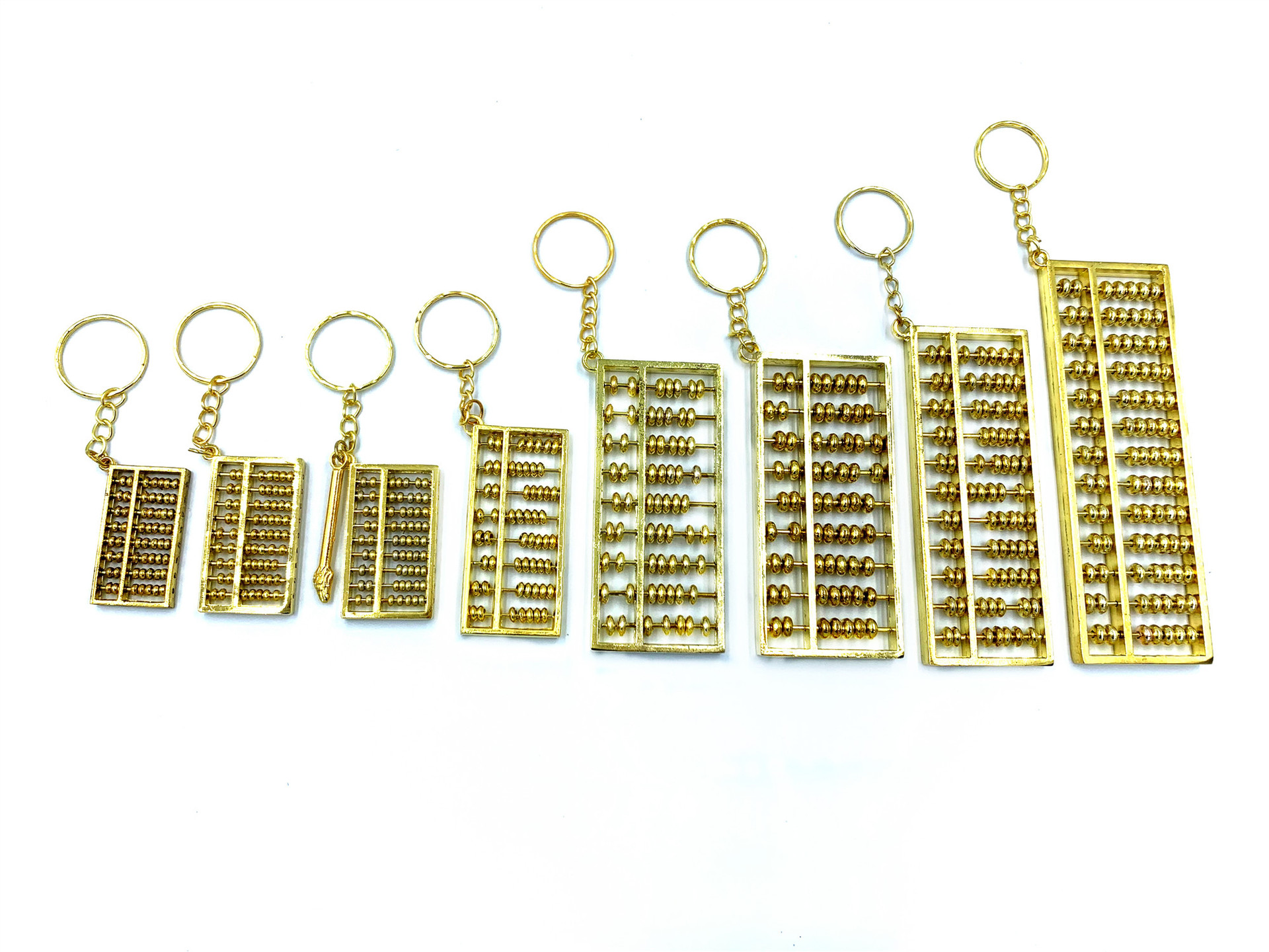 Gold-Plated Mini Abacus for Keychain Collectors