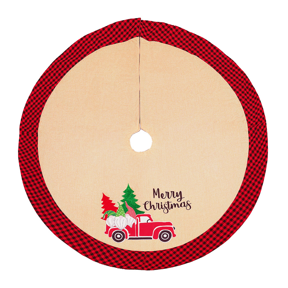 Classy Christmas Tree Skirt with Plaid Lining for a Decorative Gift Space