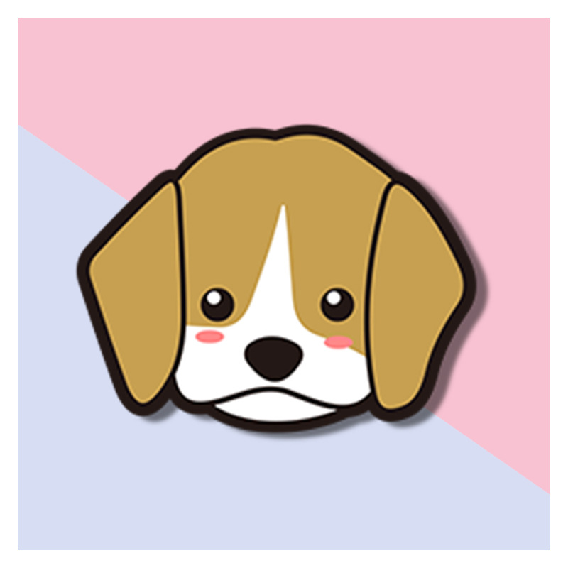 Adorable Acrylic Puppy Pins for Clothes or Bags