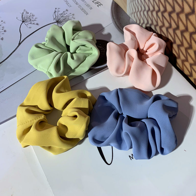 Minimalist Plain Color Scrunchies for Hair and Fashion