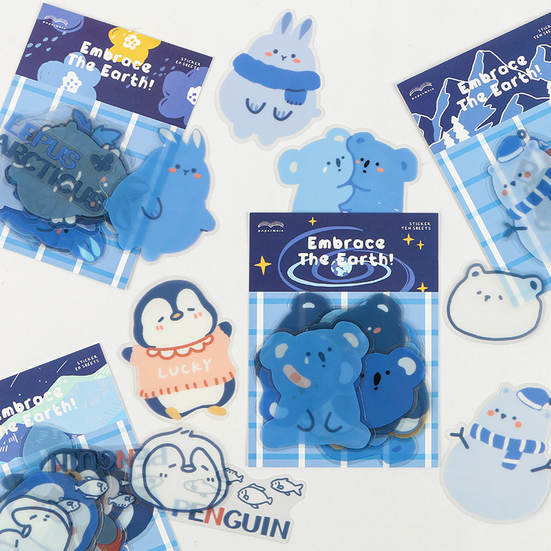 Shades of Blue Earth Lover Sticker Collection