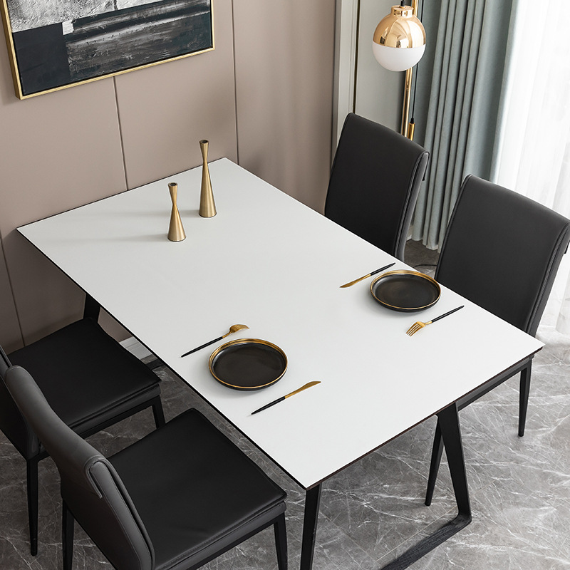 PU Leather Tablecloth for Modern And Minimalist Table Setting