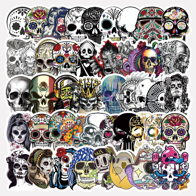 Skull Graffiti Sticker Pack (50 Pieces/Pack)