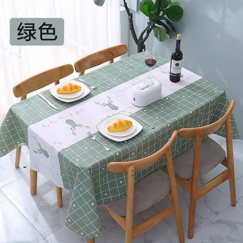 Decorative Disposable Plastic Tablecloth for Stylish Coffee Tables