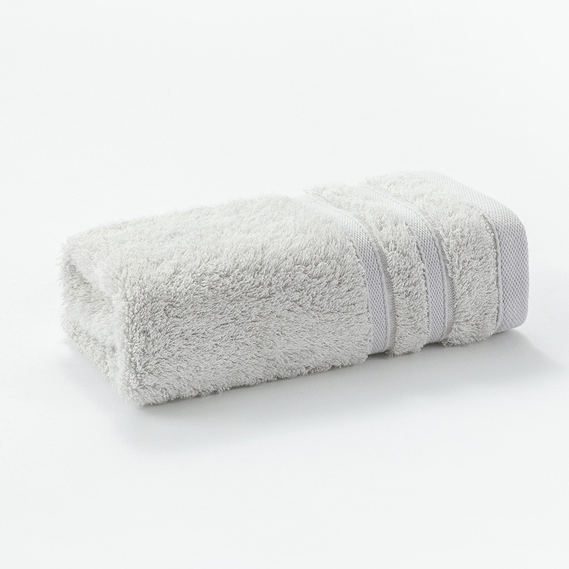 Pastel Color Bamboo Fiber Bathroom Towels for Daily Necessities