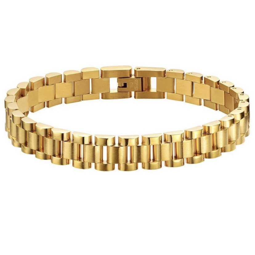 Fashionable Gold Plated Watch Strap Bracelet for European Style Jewelry