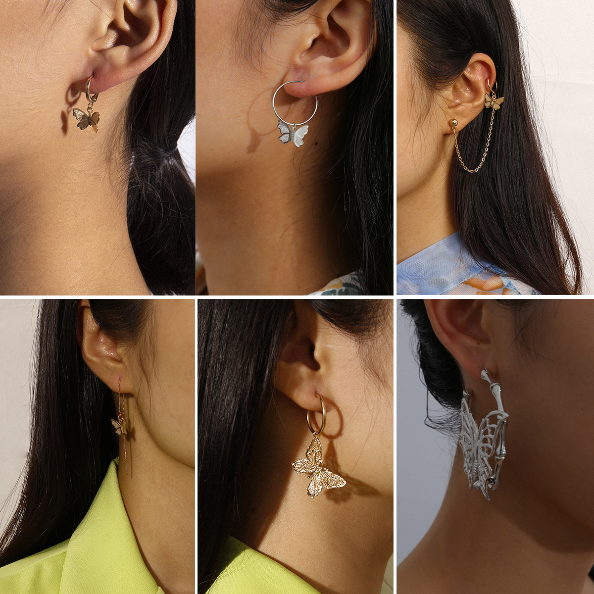 Cute Butterfly Earrings for Wearing with Modish Attire