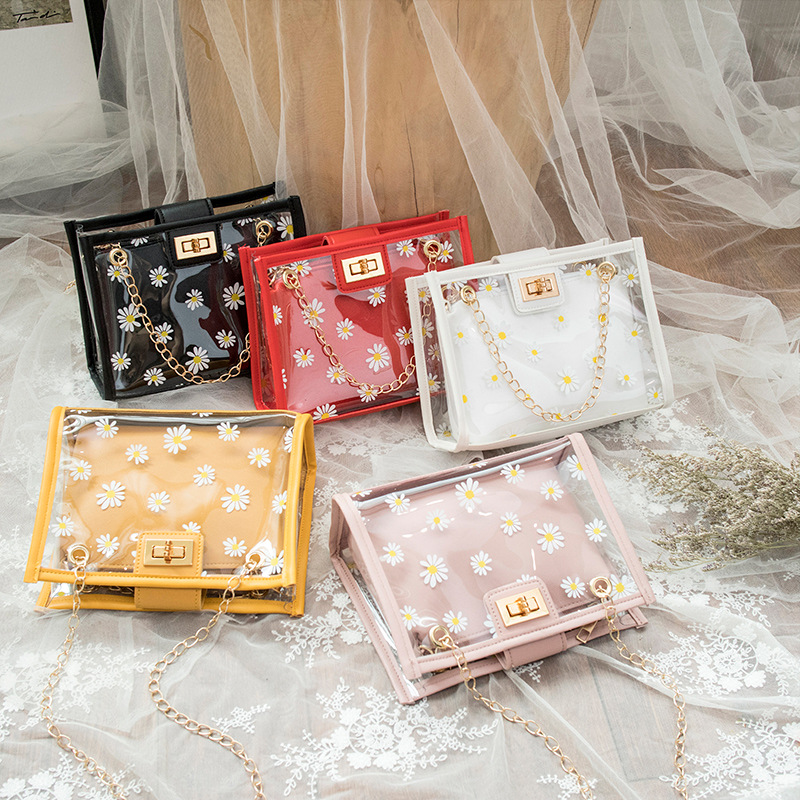 Dainty Transparent Daisy Purse for Carrying Daily Essentials