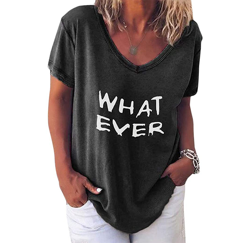 """""""Whatever"""" Colorful V-Neck Tee for Simple Gifts"""