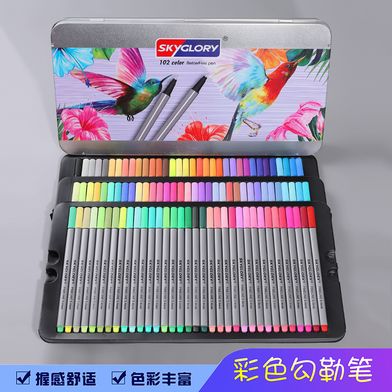 Colorful Plastic Gel Pens for Coloring Books