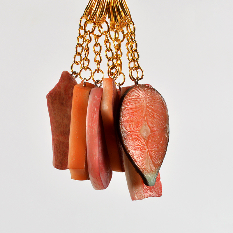 Realistic Cold Cuts Keychains