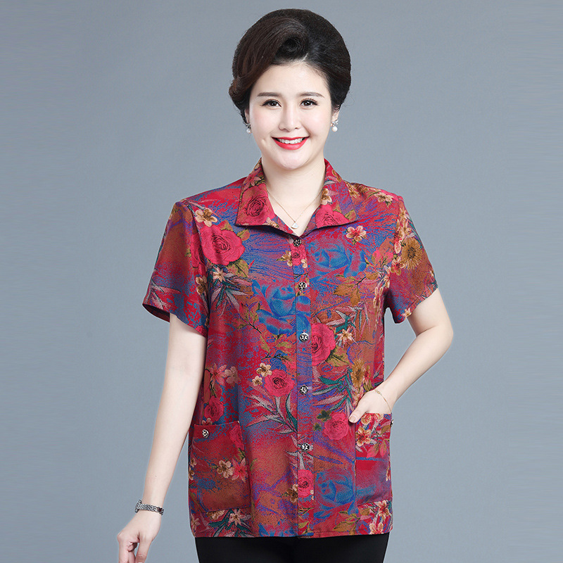 Oriental Floral Button-Up for Religious Affairs