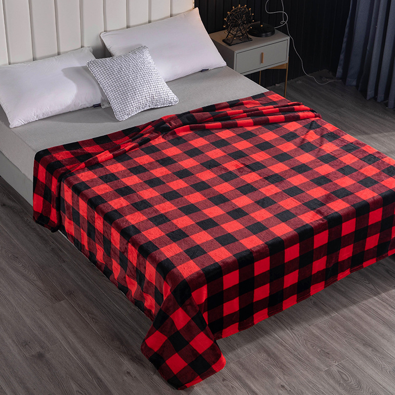 Thickened Checkered Blanket for Gift