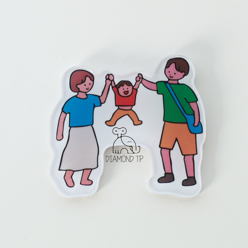 Happy Family Fridge Magnet for Father's Day Gift