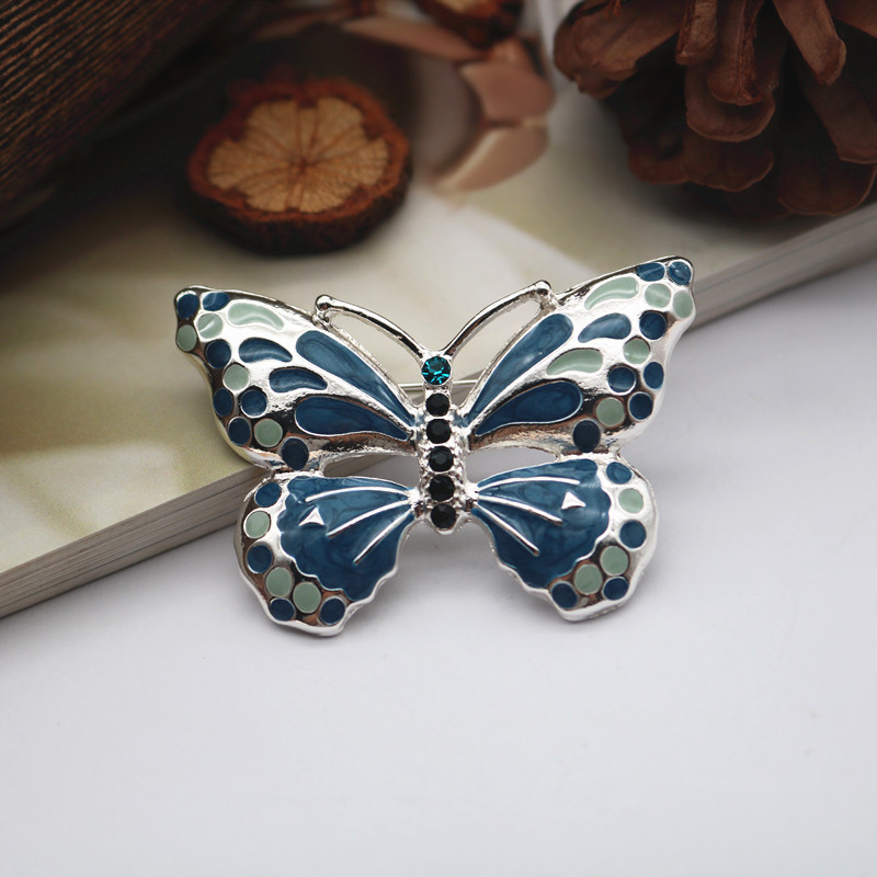 Flat Lay Butterfly Brooches for Garden Parties