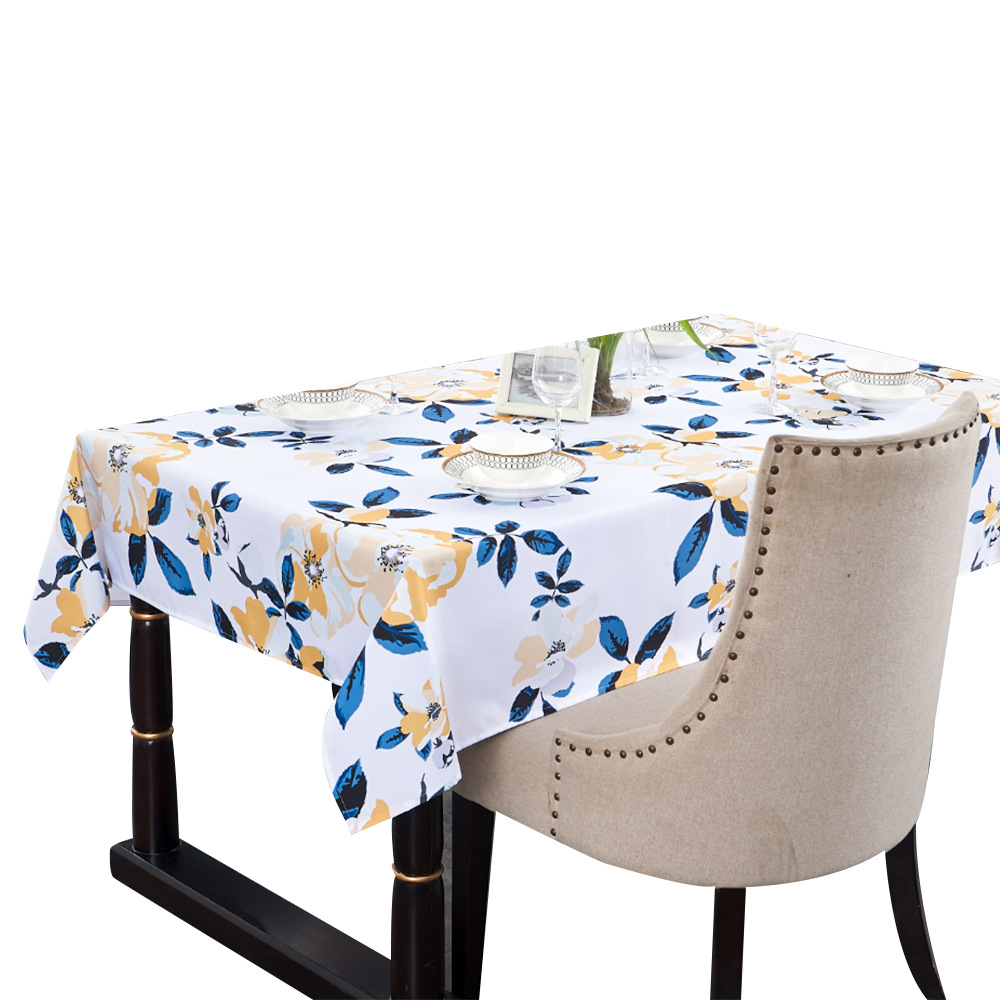 Creative Floral Waterproof Tablecloth for Avoiding Damaging Your Dinner Table