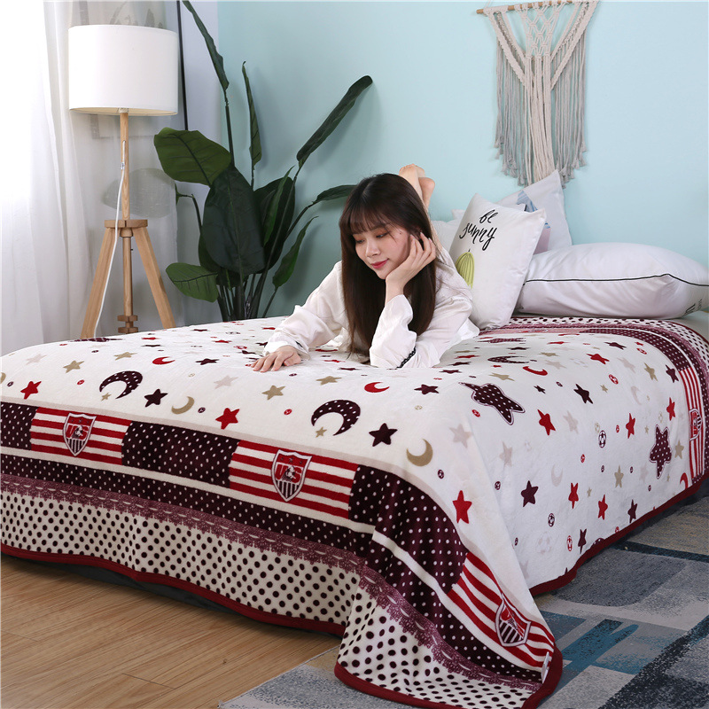 Retro Patterns and Animals Thick Winter Blanket