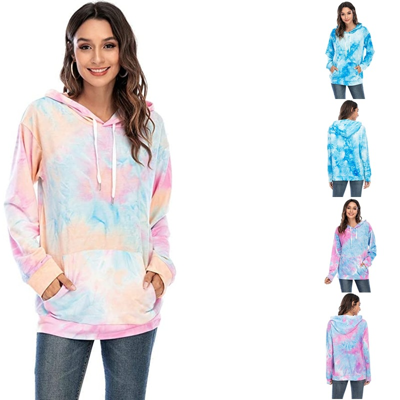 Youthful and Cute Tie-Dye Hoodie for Teenagers and Teens-by-Heart