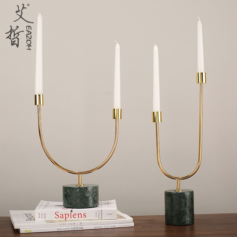 Modern and Elegant Metal Candle Holder for Dining Room Accent