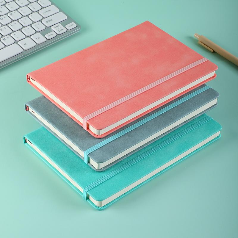 Faux Leather Notebook with Elastic Strap