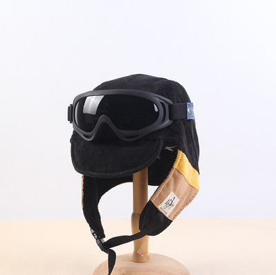 Cozy Thick Hat with Goggles for Windy Weather Accessories