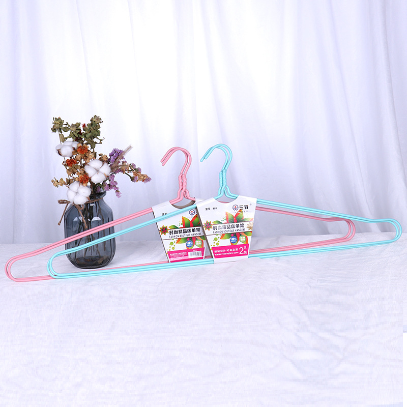 Plastic Coated Wire Hanger for Clothes and Jackets