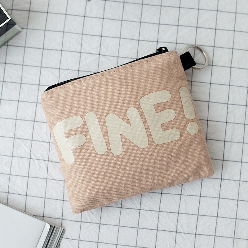 Minimalist Printed Pastel Colored Wallet for Handling Coins